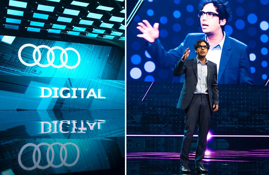 Rajesh Koothrappali beim Audi Summit Barcelona 2017