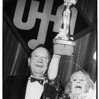 Hildegard Knef und Hans-Dietrich Genscher, UFA Filmball 1990