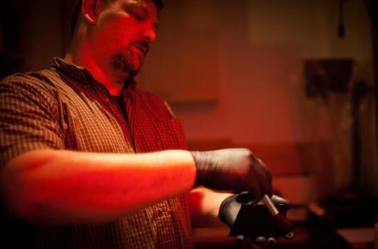 Vernon Trent im Fotolabor