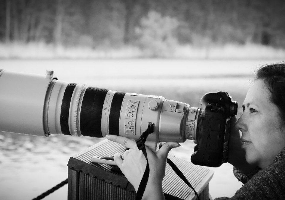 Sandra Schink, Fotografin, mit Telezoom 200-400mm/4L IS USM mit 1.4 Extender an EOS 1Dx