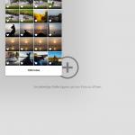 Snapseed: Auswahl aus der Cameraroll
